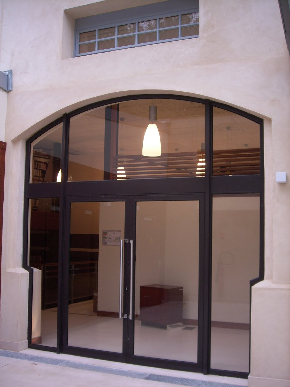 Verrière acier et portes aluminium